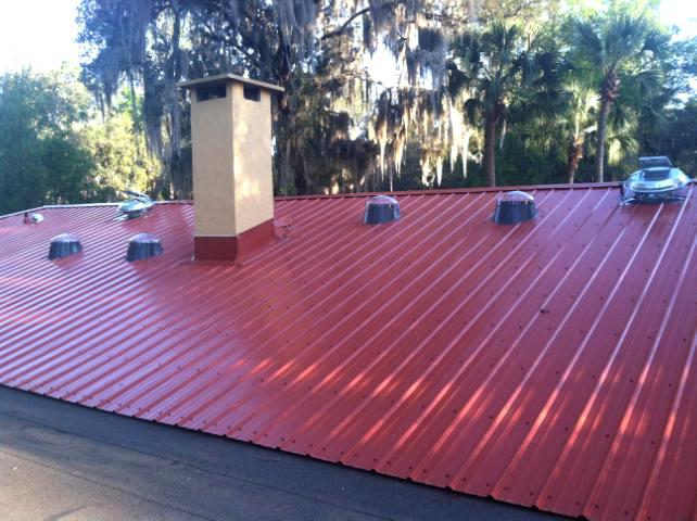 Terracota Kynar 500 Rib panel 14'' Velux Solar Tubes Solar Powered Attic Fans