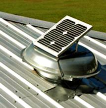 Solar powered vents