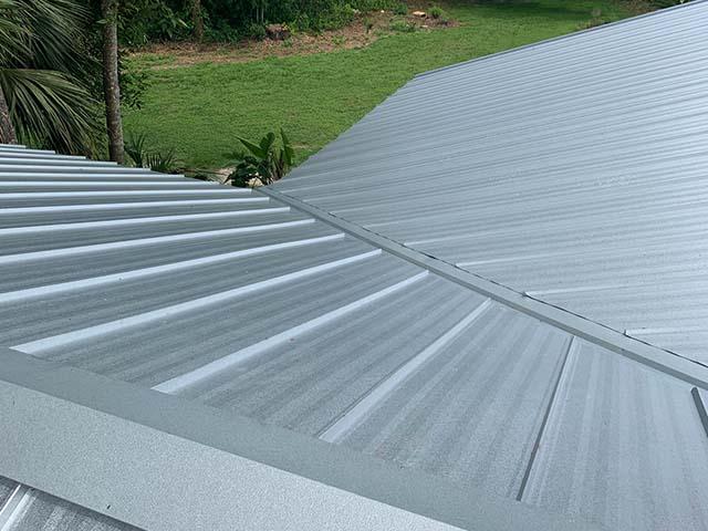 metal roof steep pitch detail