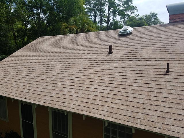 Shingle roof - tan